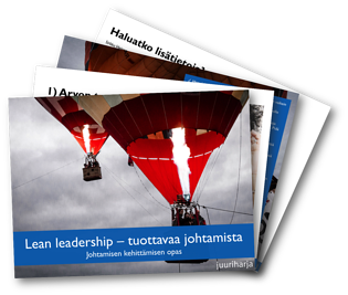 Lean leadership opaskuva