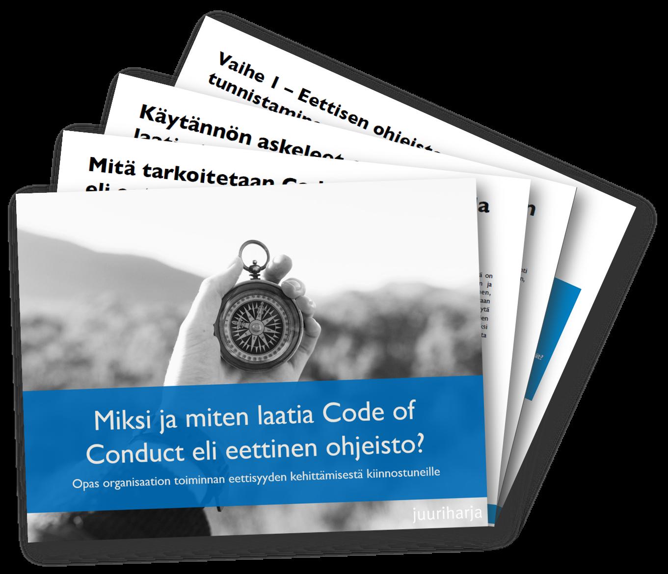Miksi ja miten laatia Code of Conduct eli eettinen ohjeisto -pikaopas